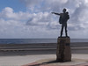 Jose Marti, a Cuban hero up on a pedestal.