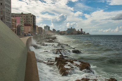 Waves along the Malecon, Havana