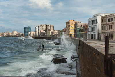 Along the Malecon, Havana