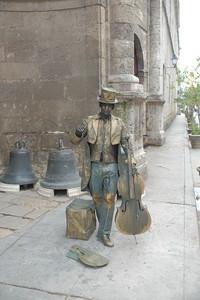 Mime Street Performer - Cellist