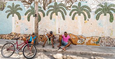 Fusterlandia, the studio, residence and neighborhood world of Cuban Artist José Rodriguez Fuster (born August 1946).