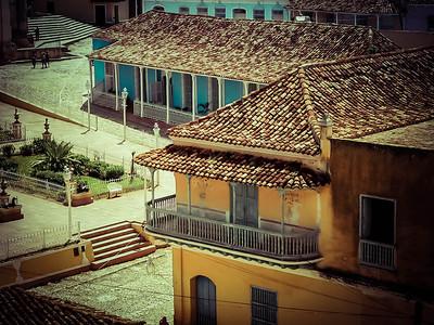 Casas coloniales de la Plaza Mayor