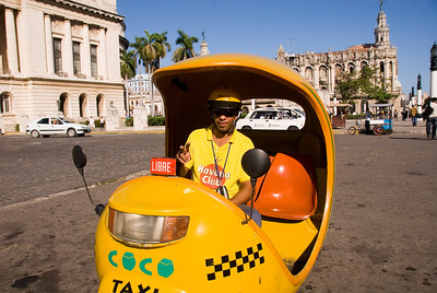 My first Coco Taxi, Capitolio Nacional, Havana