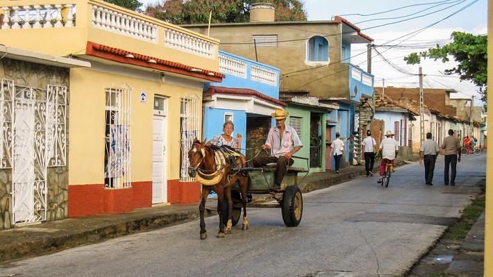 Friendly horse drawn carriage in Trinidad, Cuba, 2010