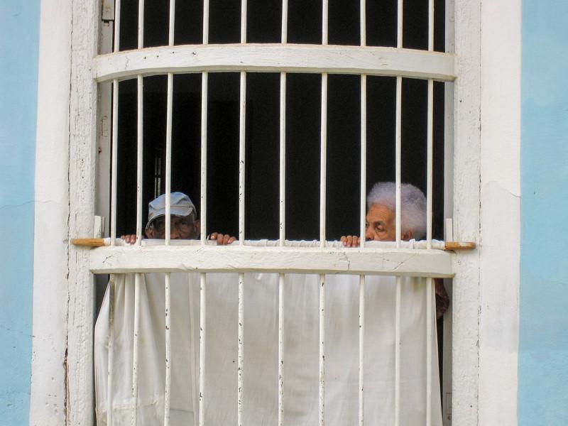 Keeping tabs on the neighborhood, Trinidad, Cuba, 2010