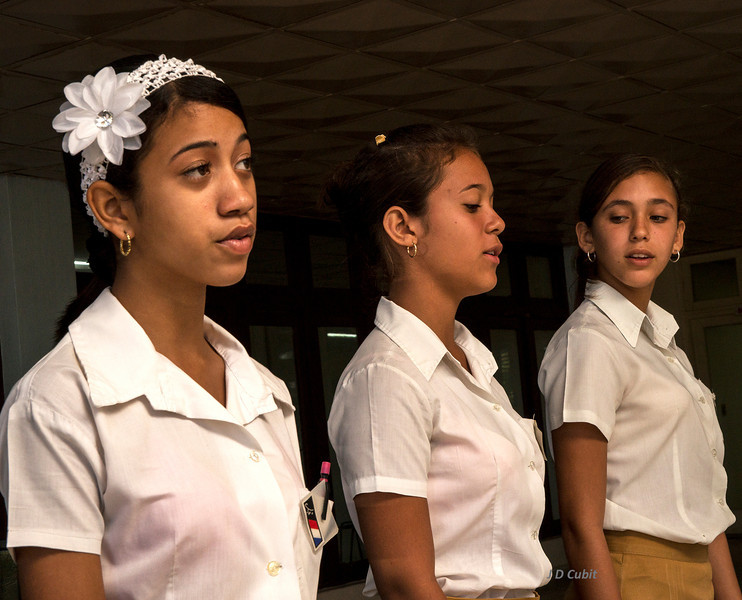 A Capella singers in a regional  performing arts school, Cuba. The school also had programs in musical instruments, painting, sculpture, and dance.