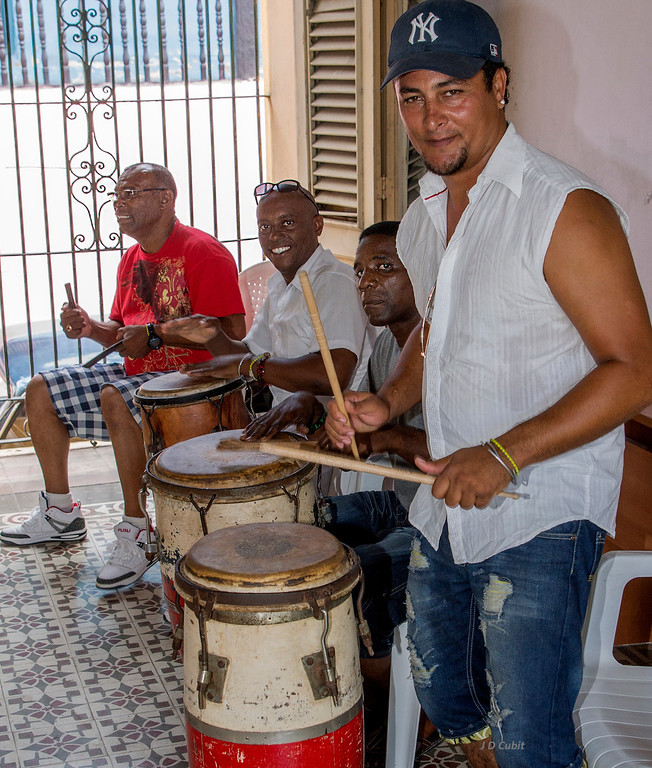 Drum band for a Yoruba based Afro-Cuban Dance, eastern Cuba.