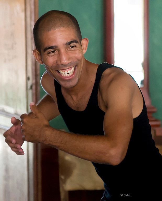 Instructor in the Cuban salsa group.