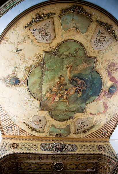 Ceiling of the theater.
