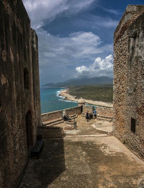 Castillo de San Pedro del Morro, the main fort defending the harbor at Santiago de Cuba. 5 April 2013.