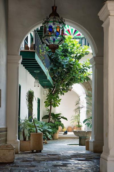 Entryway and patio, Old Havana.
