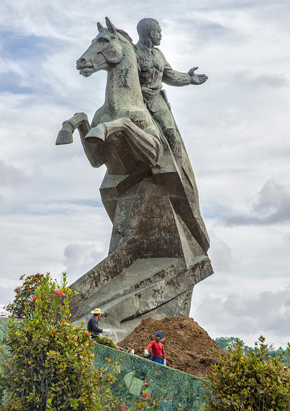 Antonio Maceo monument, Santiago de Cuba.  Despite the obstacles of racism, Maceo quickly rose from the rank of private to brigadier general in the Cuban war of independence against Spain (aka, the Spanish American War).   He was known for his bravery,  innovations, mastery of strategy, and ability to outmaneuver the Spanish army.  He died in battle.