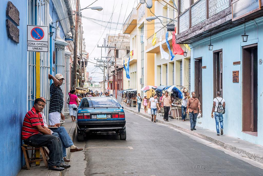 Side street in Santiago de Cuba.