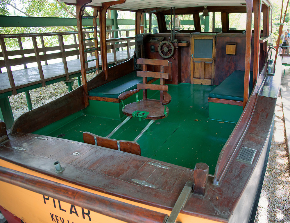 Hemingway's fishing boat, the Pilar.