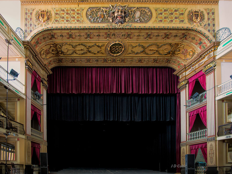 Old theater in Cienfuegos, Cuba, also a product of the French Caribbean influence in Cuba.