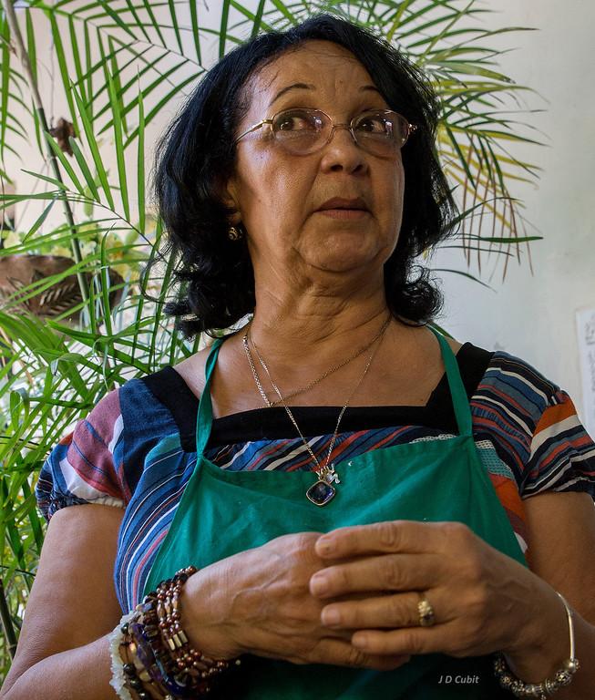 Cuban artist Marta Jimenez Perez.