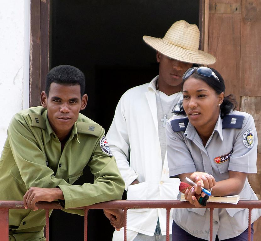 Security at the Parque Historico El Morro, Santiago de Cuba.