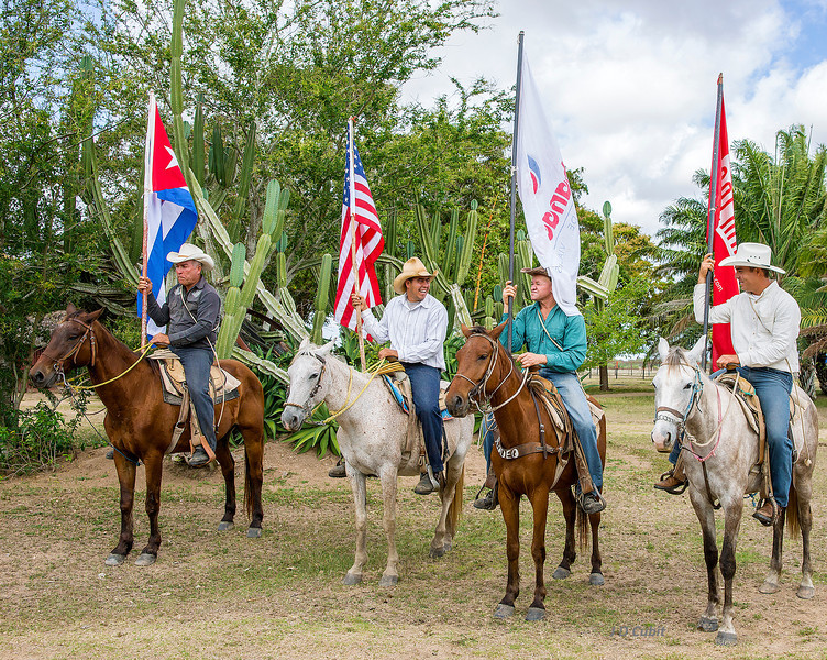 Rodeo start at the King Ranch, Cuba.