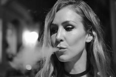 kathryn smoking a cohiba