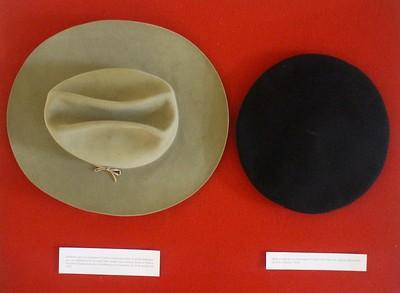 hats of Camilo Cienfuegos and Che Guavera