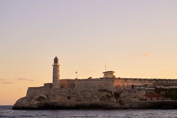 Old Castillo de San Salvador de la Punta early morning