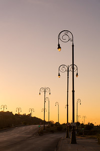 light posts along the Calle Tra, early morning, Old Havana