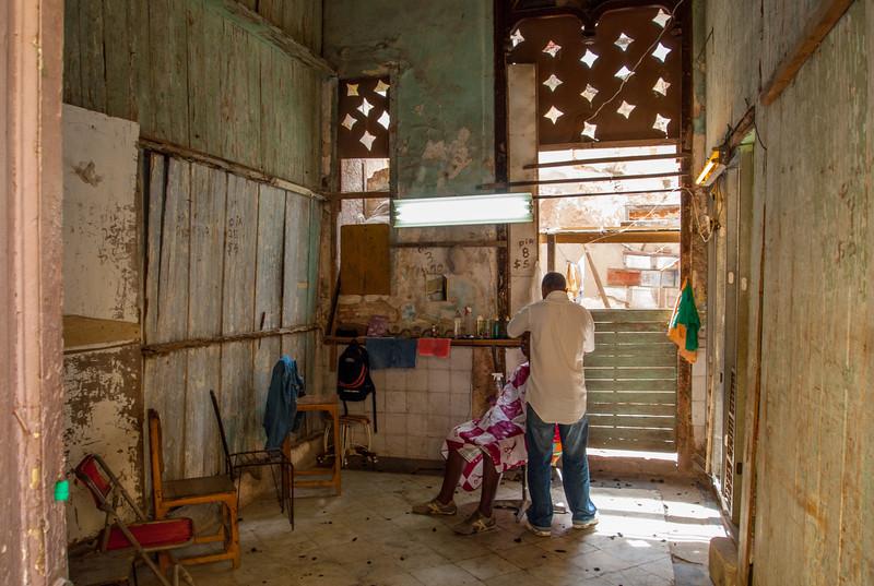 Barbershop in Havana,Cuba