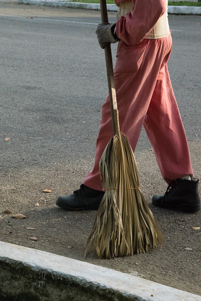 Streets are swept clean.