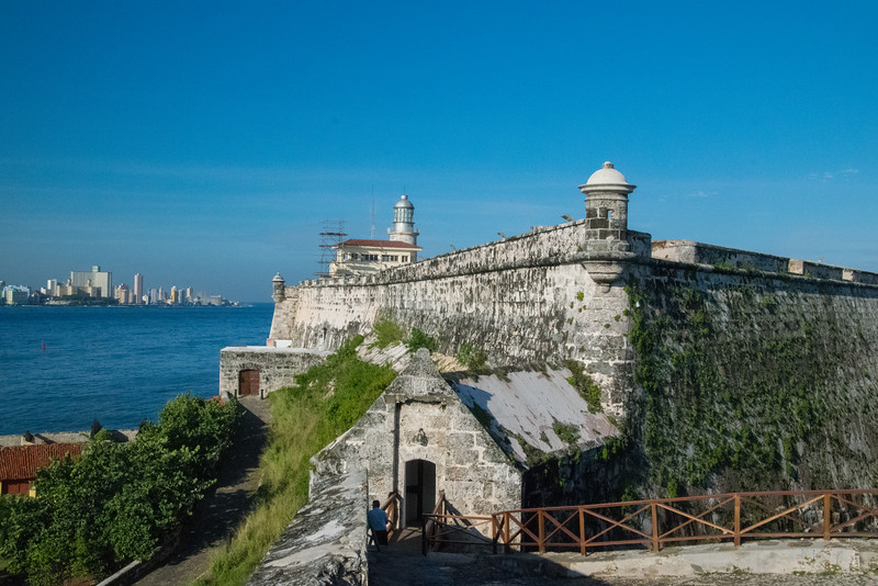 Havana skyline and the fortress of El Morro, built in 1589 to defend Havana harbor.
