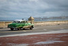 Taxi along the Malecon, Havana Cuba