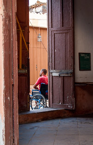 A handicapped man in Tinidad