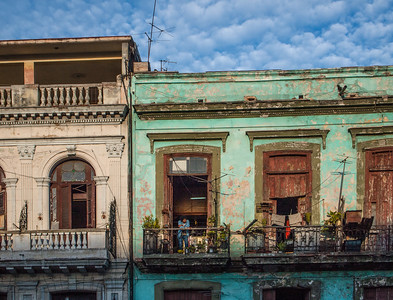 Streets and buildings of Havana, Cuba