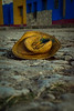 Hat on cobblestone street. Captured during on an early morning walk in Trinidad.