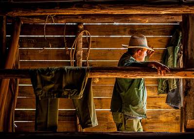 A Cuban at a a ranch