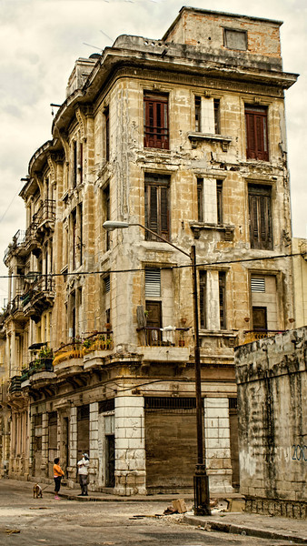 Tall Yellow Havana Building