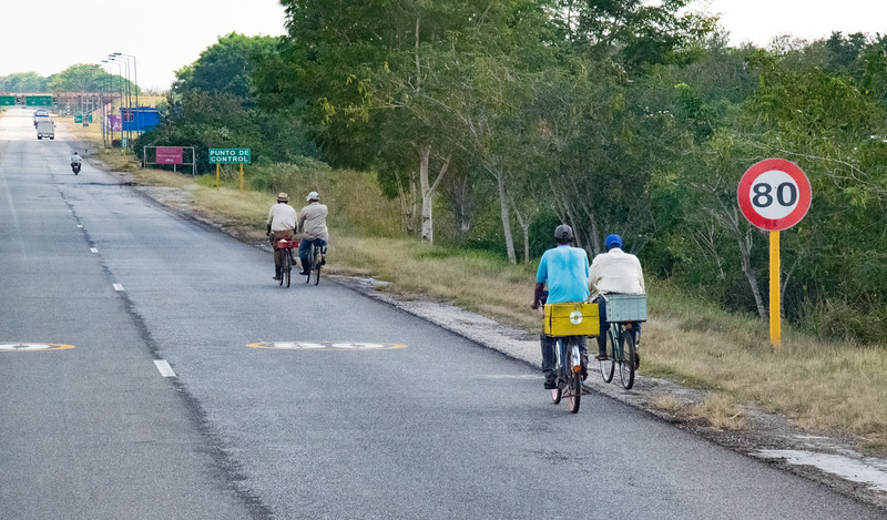 Typical scene as photographed from our tour bus traveling between Havana and Trinidad.