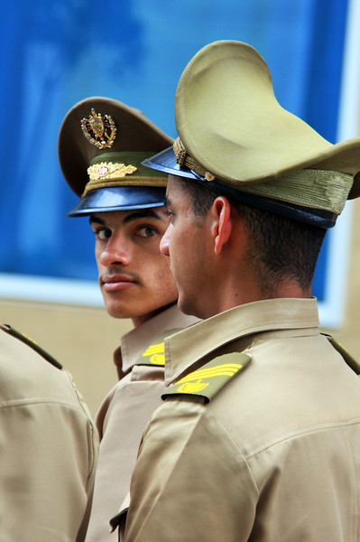 Soviet-era influenced miltiary uniforms, Havana, Cuba