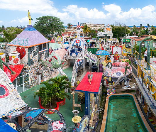 Perspective of Fusterlandia, work of Jose Fuster, Picasso of the Caribbean, colorful and bright