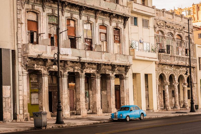 A street scene in Old Havana