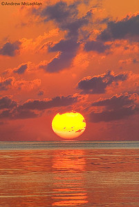 Sunrise on the Atlantic Ocean at Cayo Guillermo, Cuba