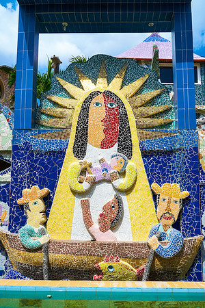 La Virgen de la Caridad del Cobre at Fusterlandia, work of Jose Fuster, Picasso of the Caribbean, colorful and bright