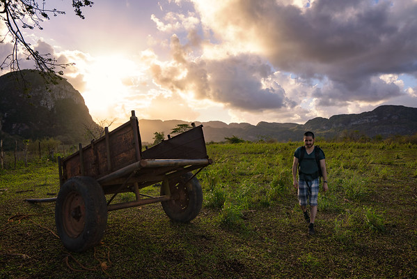 Walking through the Fields of Vinales
