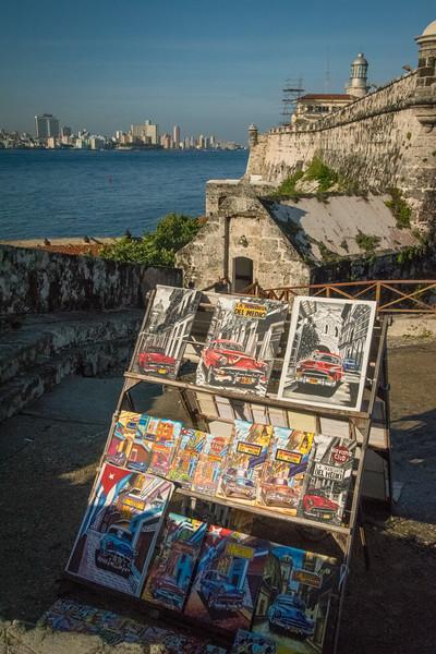 Havana skyline and the fortress of El Morro, built in 1589 to defend Havana harbor.