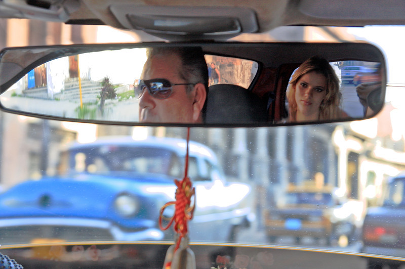 Taxi through the streets of Havana, Cuba