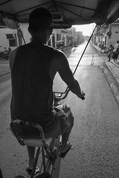 Enjoying the views from my seat in the pedicab. Trinidad is built on a hillside and the driver certainly works up a sweat on the uphill streets!