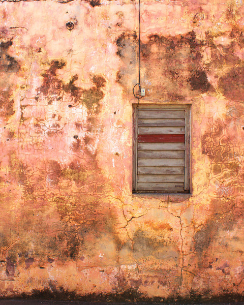 Shutters on Pink Wall