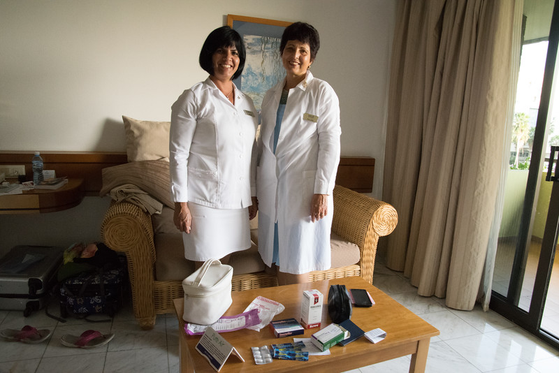 I experienced the free health care in Cuba. I was having some lung/breathing issues. Rather than 'tough it out' and hamper experiencing Cuba at my utmost best, I called the front desk and the hotel's on-call doc and nurse came to my room. I was diagnosed with lung and ear infections and given antibiotic, candy (throat lozenge), syrup (expectorant), and pain relief. The doc was free but I paid $32 CUC (about $33 US Dollars) for the meds and gave a $3 CUC tip (expected).<br /> Cuban medical internationalism is the Cuban programme, since the 1959 Cuban Revolution, of sending Cuban medical personnel overseas. It is widely believed that medical workers are Cuba's most important export commodity.