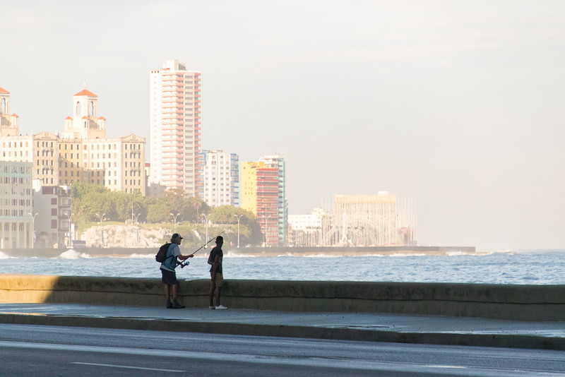 Fishers on the Malecon