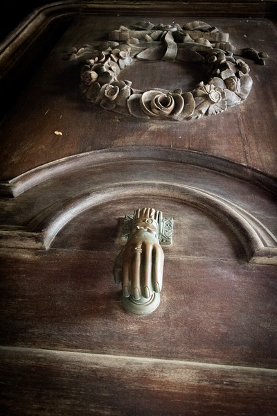Door knocker on the Central Chapel.