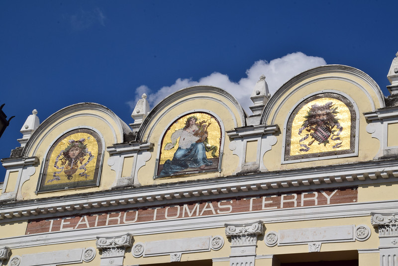 Probably one of the most historic buildings in Cienfuegos has to be the Teatro Tomas Terry. Built in 1889 it was, at the time, one of the largest capacity theaters in the Caribbean designed for 1200 people. Unlike many historic theatres around the world, the Terry Theater of Cienfuegos is still used regularly for performances. Admission fee to simply view the theater itself is 10 pesos (or $50 cents). This impressive building in Cienfuegos is located on the north side of Parque Marti. The theatre was built in homage to Tomas Terry by his family, as a tribute to the man and after his death. An impressive statue of Tomas Terry watches over the theater from the lobby. With clearly Italian architecture, the theatre was conceived by the architect Lino Sanchez Marmol.